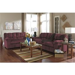 JULSON BURGUNDY SOFA + LOVESEAT 2660235/2660238 Image