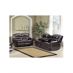 CHELSEA BROWN RECLINING SOFA + LOVE SEAT ULFBR0479-YSFBR0480 Image